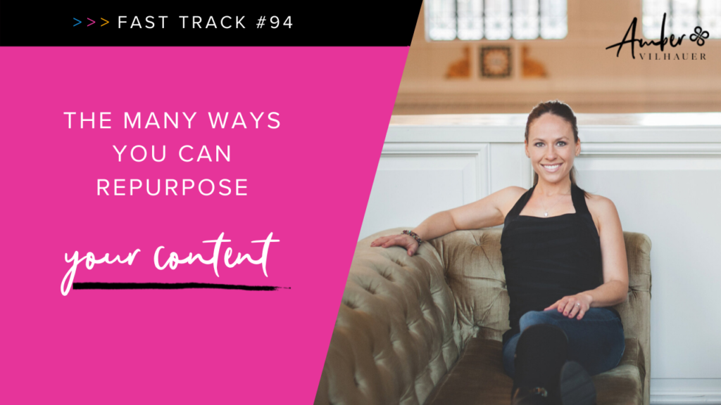 multiple ways to repurpose your content