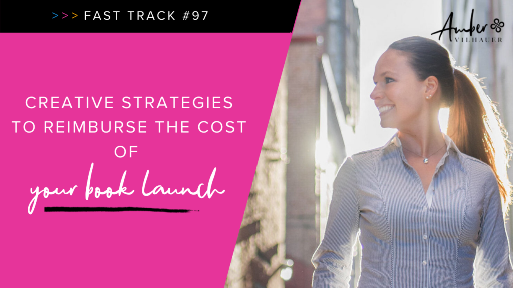 reimburse the cost of your book launch